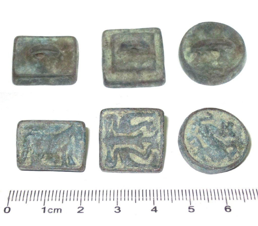 A5101, China 3 Pcs Bronze Official Seals with Animals