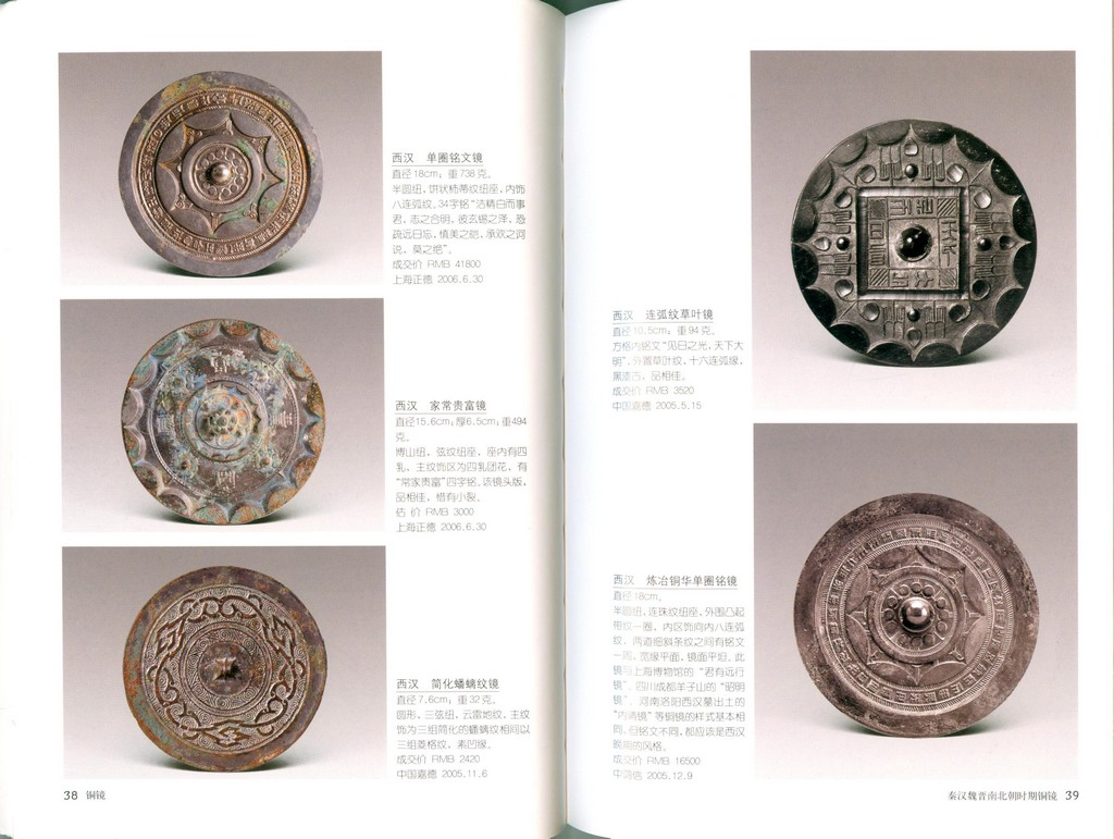 F7378, China Collection Gallary: Illustrated Handbook of Bronze Mirror (2007)
