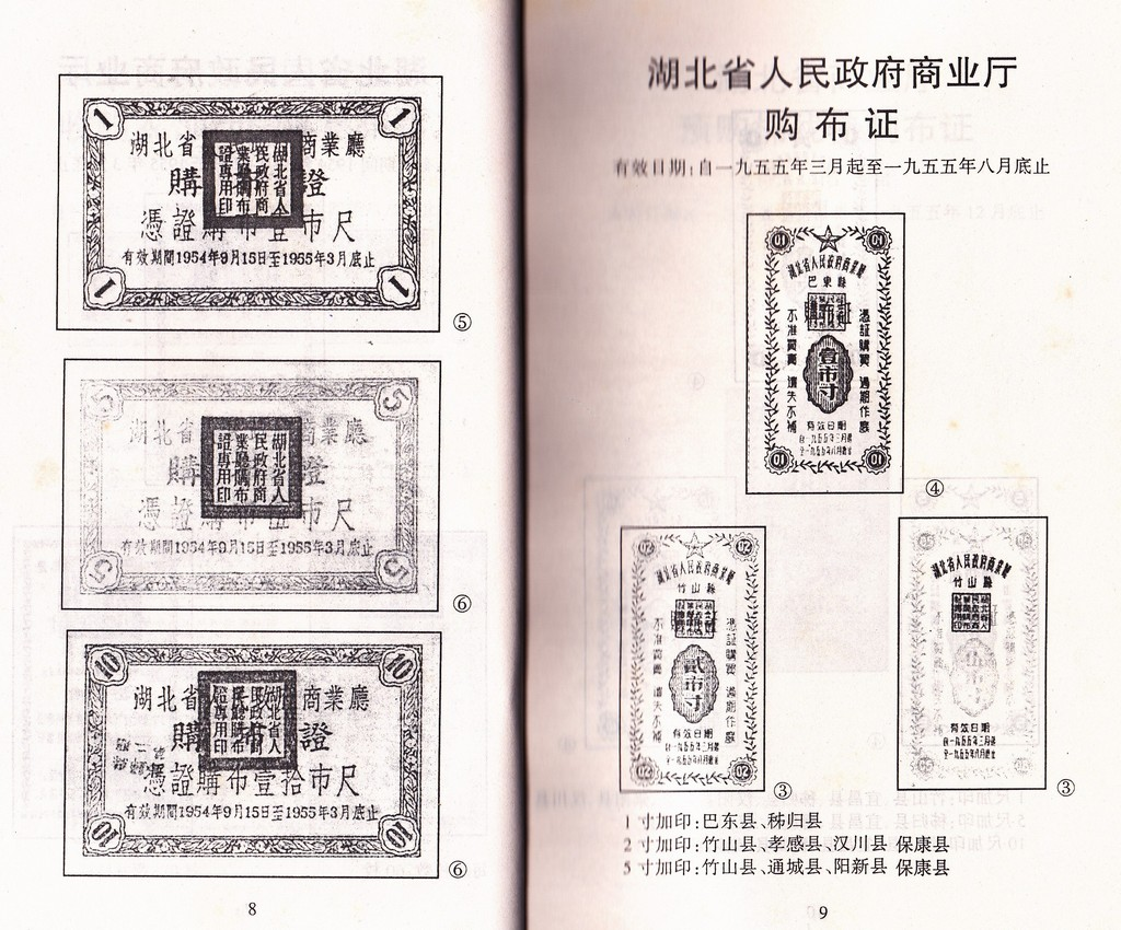 F2157 Catalogue of Hubei Province Cloth Ration Coupons (2002)