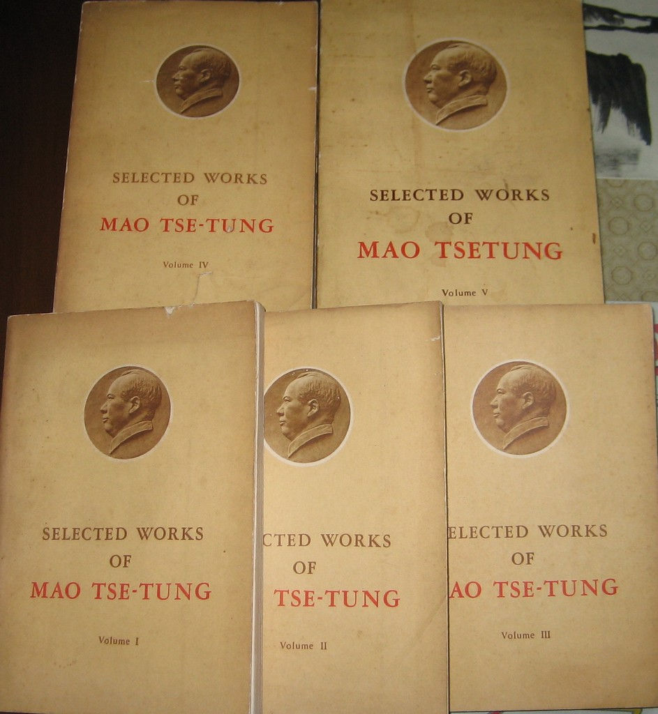 F5002 Quotations from Chairman Mao Tse-Tung, English 5 Volumes