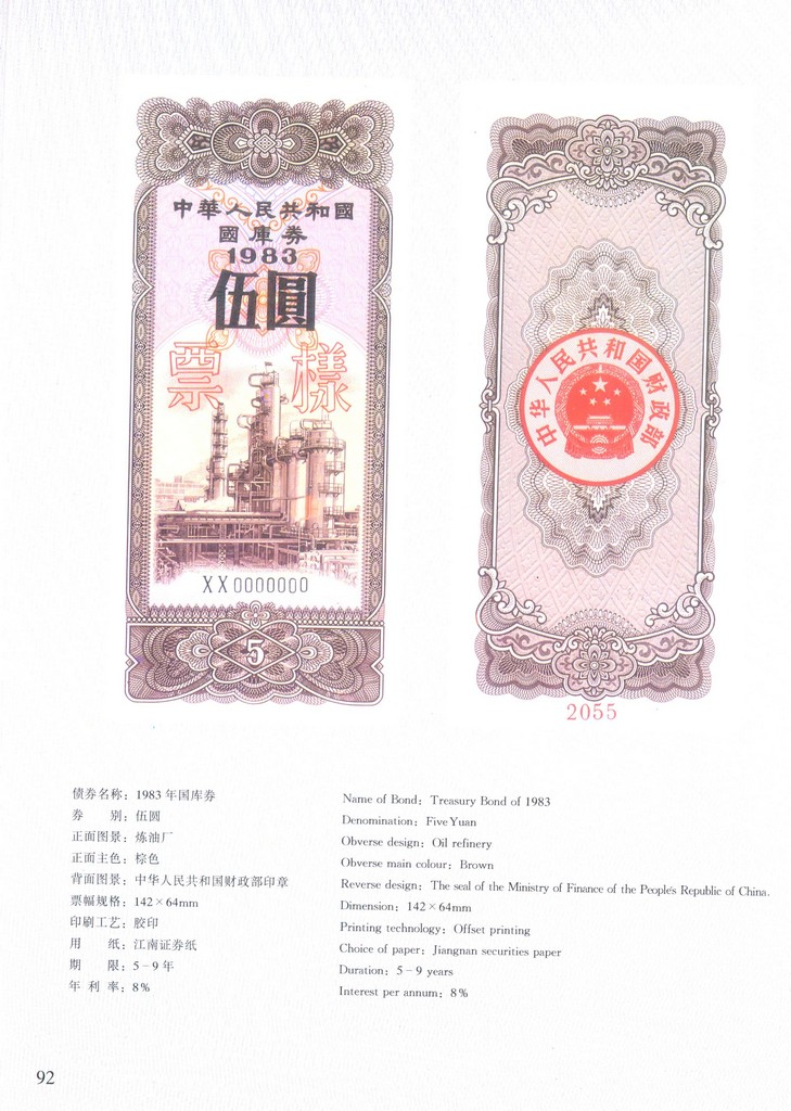 F2601, Specimen Album of the Government Bonds of P.R.China (1995). - Click Image to Close