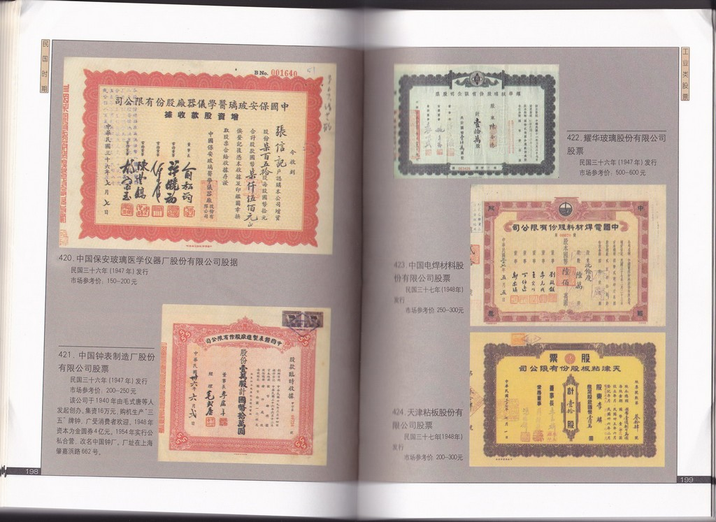 F2602, Old Stock Certificate of China (2001)