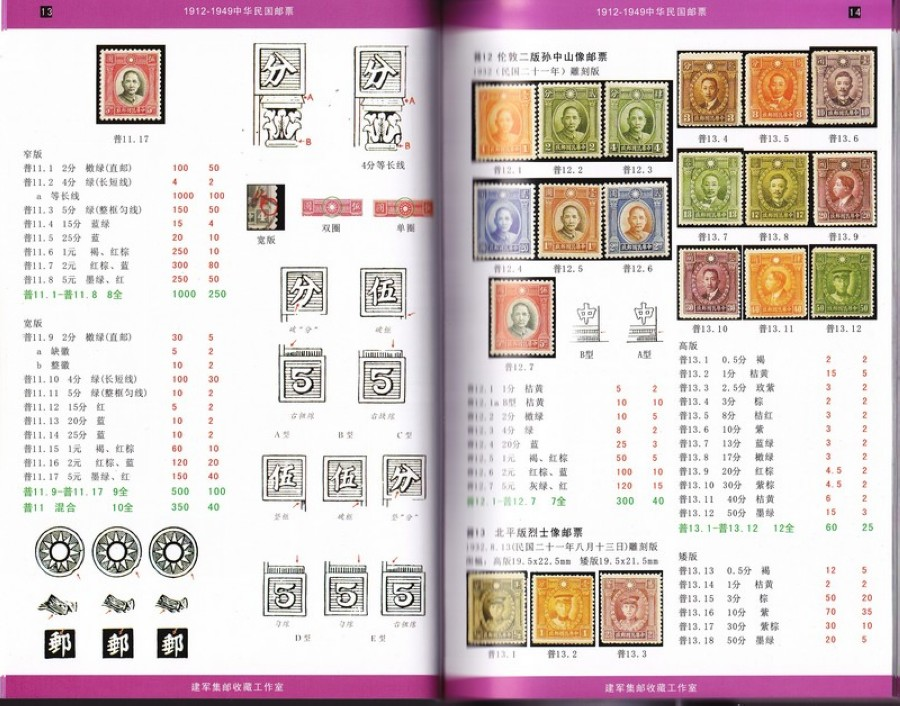 F2238, The Stamp Catalogue of the China (1865-1949), 2010 Edition, Four Volumes