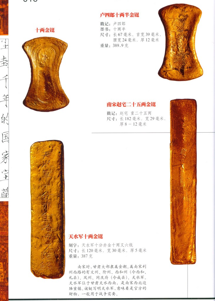 F1516 Gold and Silver Ingot of China's South Sung Dynasty (2008)