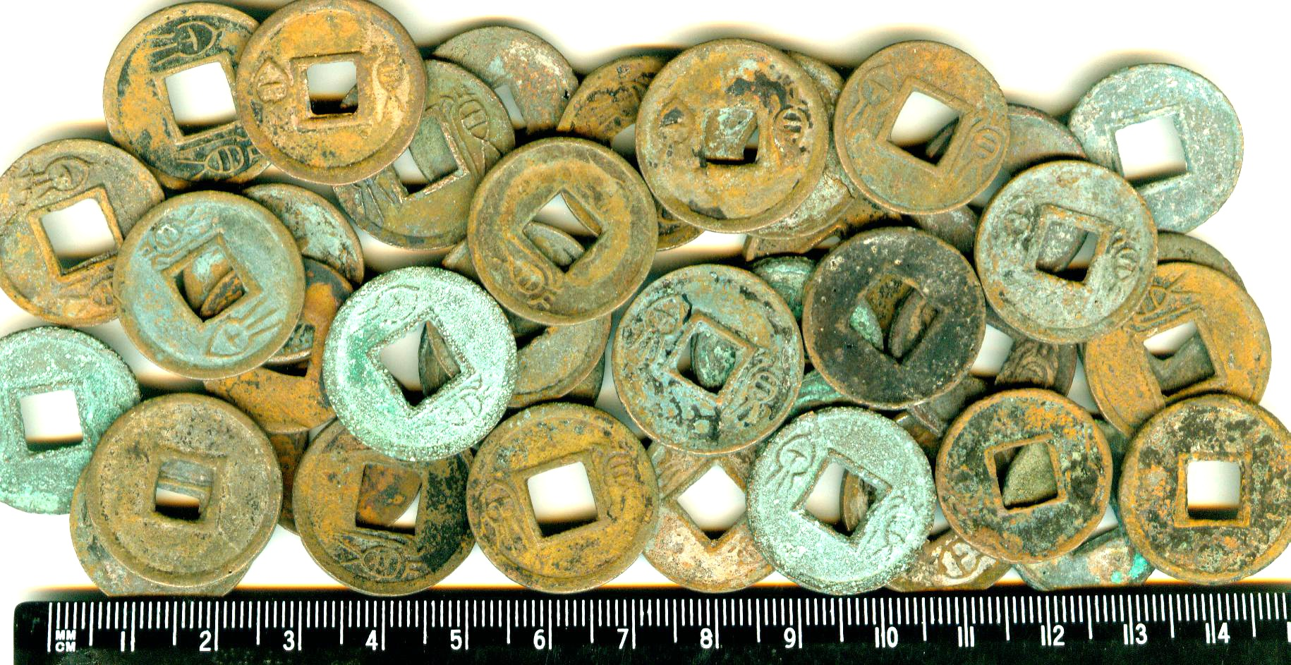 K2019, 50 pcs Huo Quan Coins, China Wang Mang Period AD 7-23