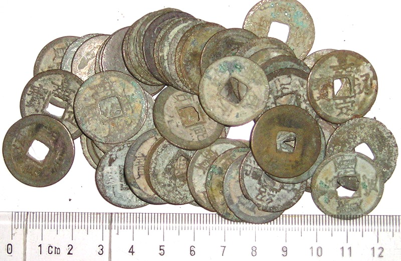 K2960, China 20 Pcs South Song Dynasty 2-cash Coins, Mixed AD 1100's