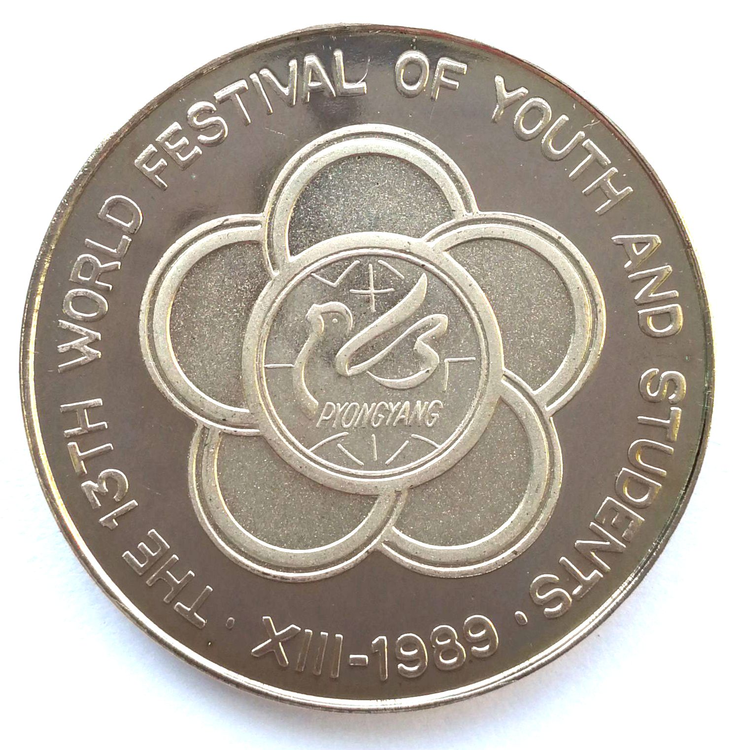 "L3087, Korea Proof Coin ""World Festival of Youth and Students"" 5 Won, 1989"