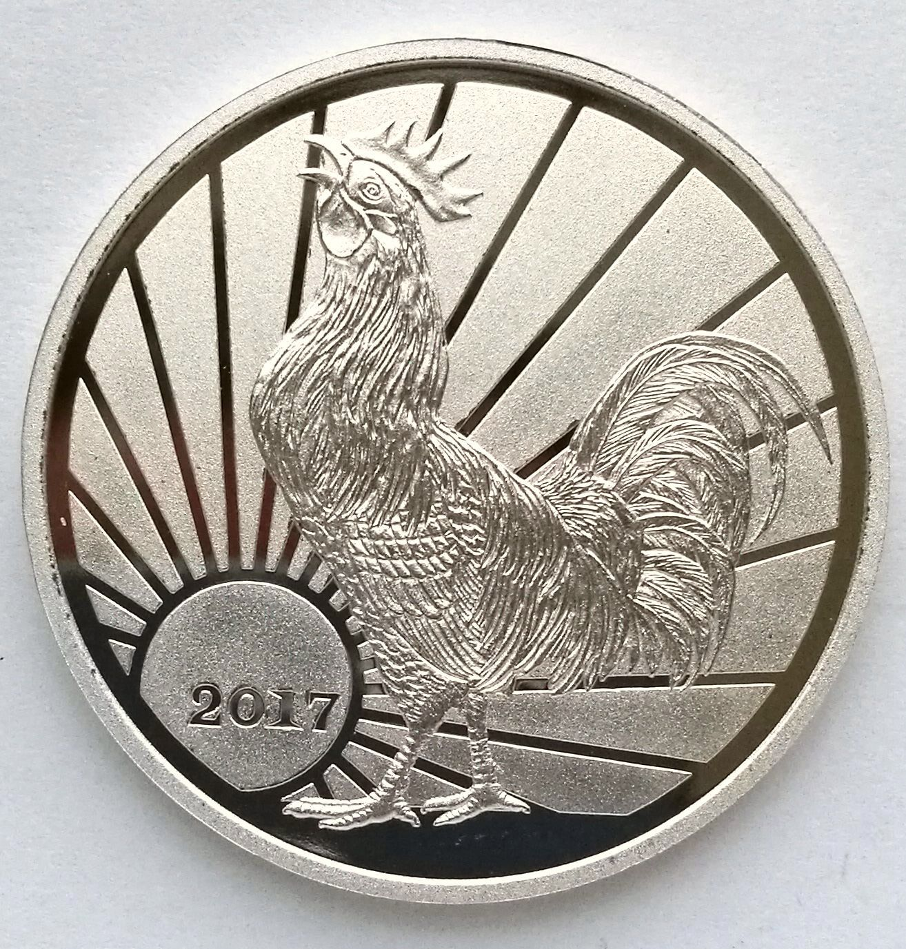 "L3220, Korea ""Rooster Year"" Proof Alu Coin, 2 Won, 2017"