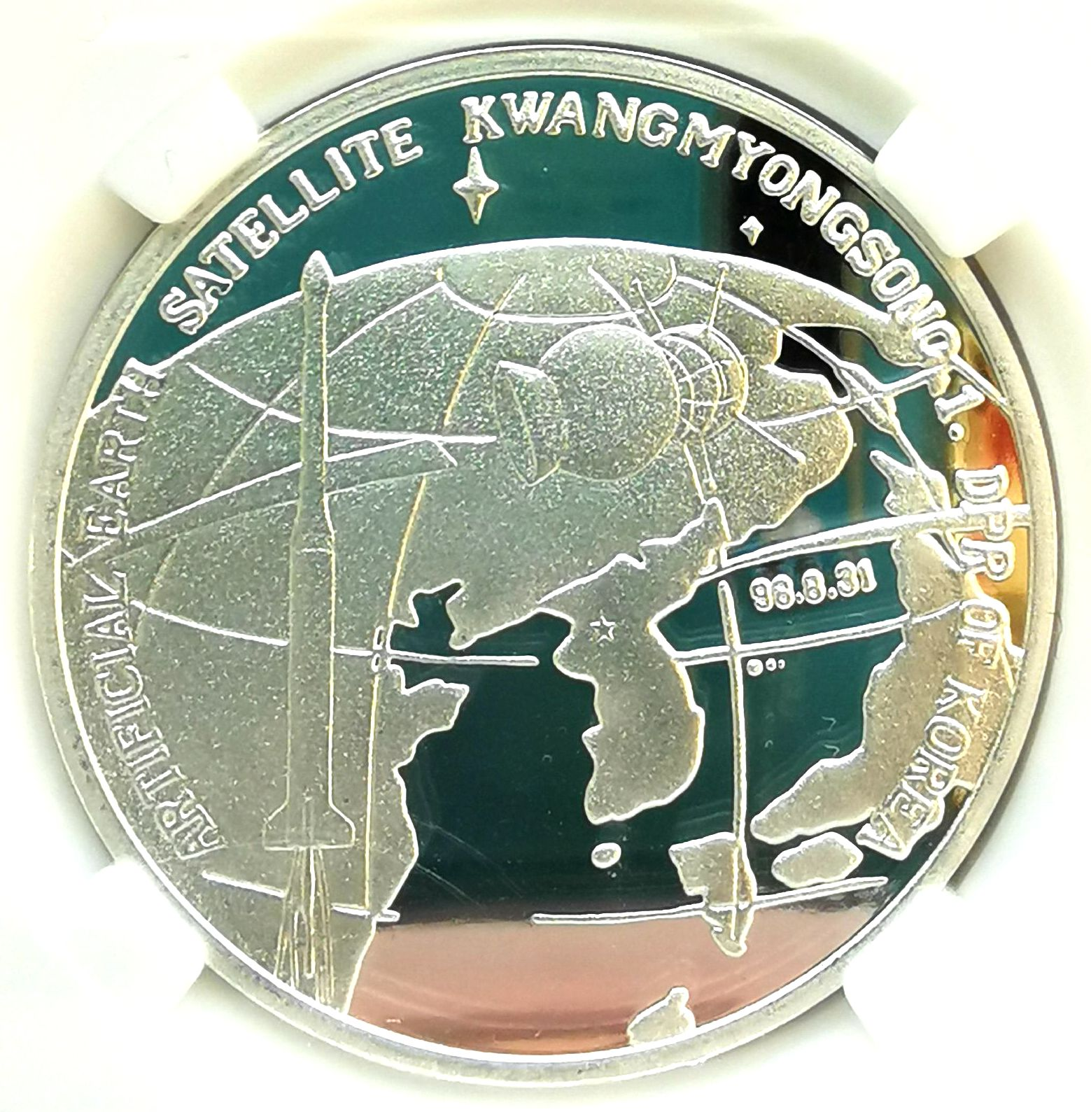 L3466, Korea Buddhism Silver Coin, Sakyamuni 0.5 Ounce, 750 Won, 2015