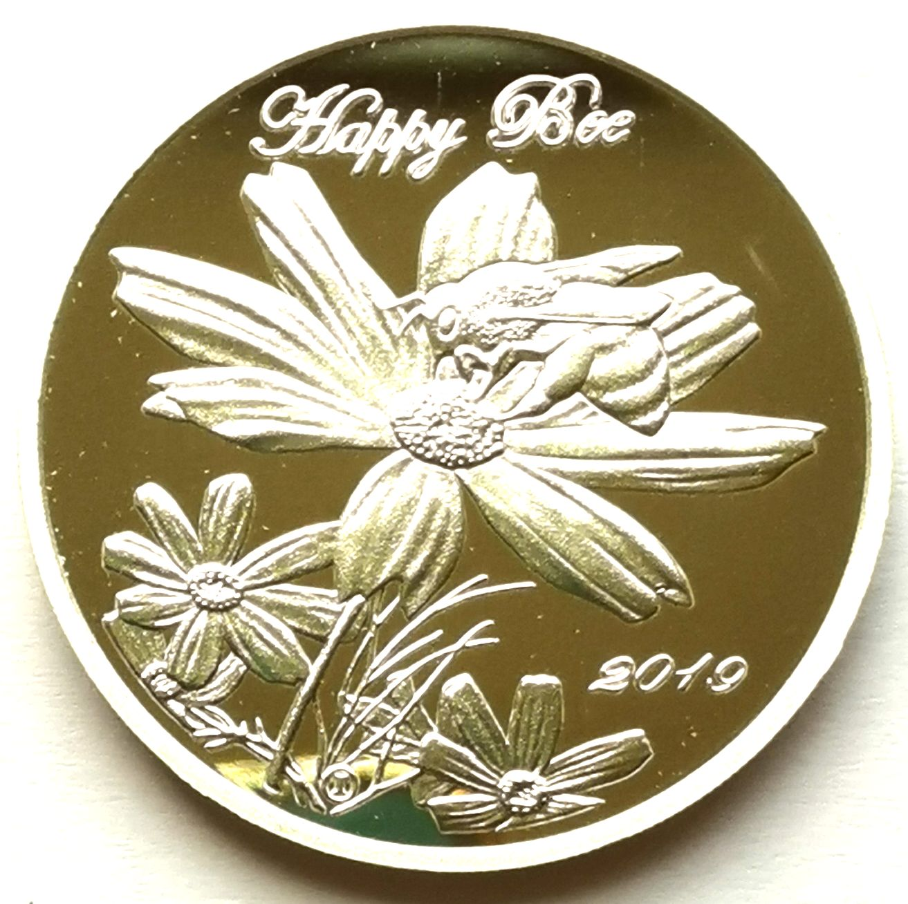 "L3555, Korea ""Happy Bee"" Silver Coin, 2019 Ordered by Jim Rogers Gift Coin"