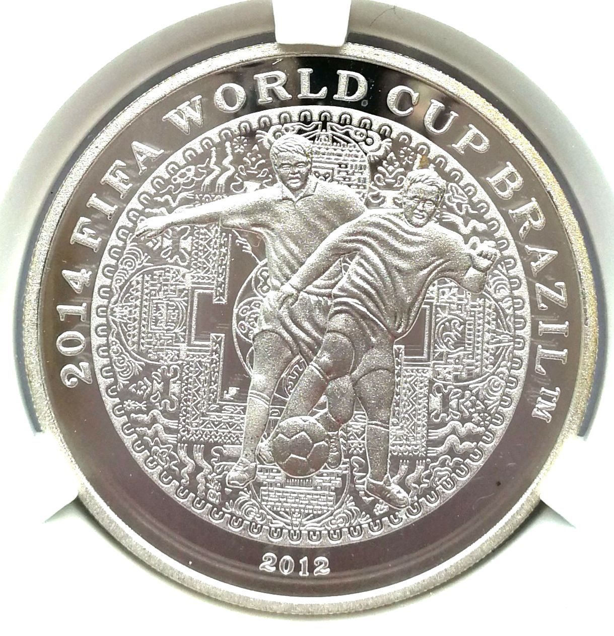 "L3580, Korea Proof Silver Coin ""2014 FIFA World Cup Brazil"" 20 grams, Korean Grade"