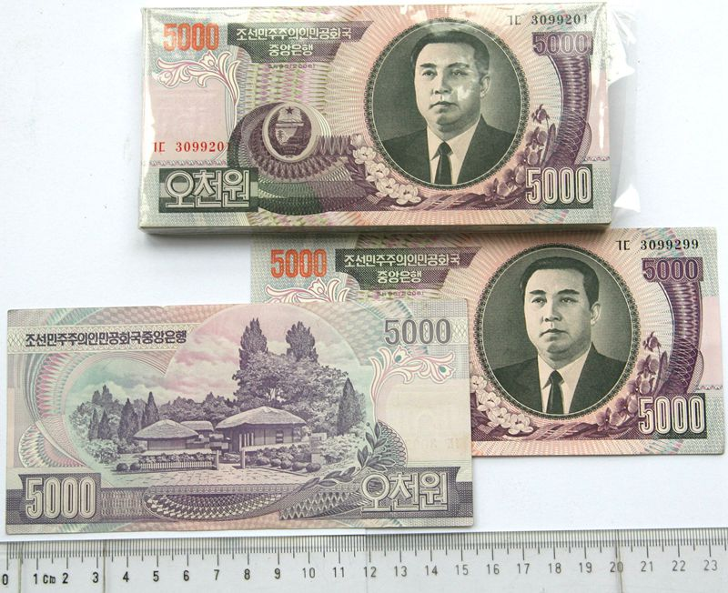 L1094, Bundle Korea 5,000 Won Banknotes, 100 Pcs, 2006