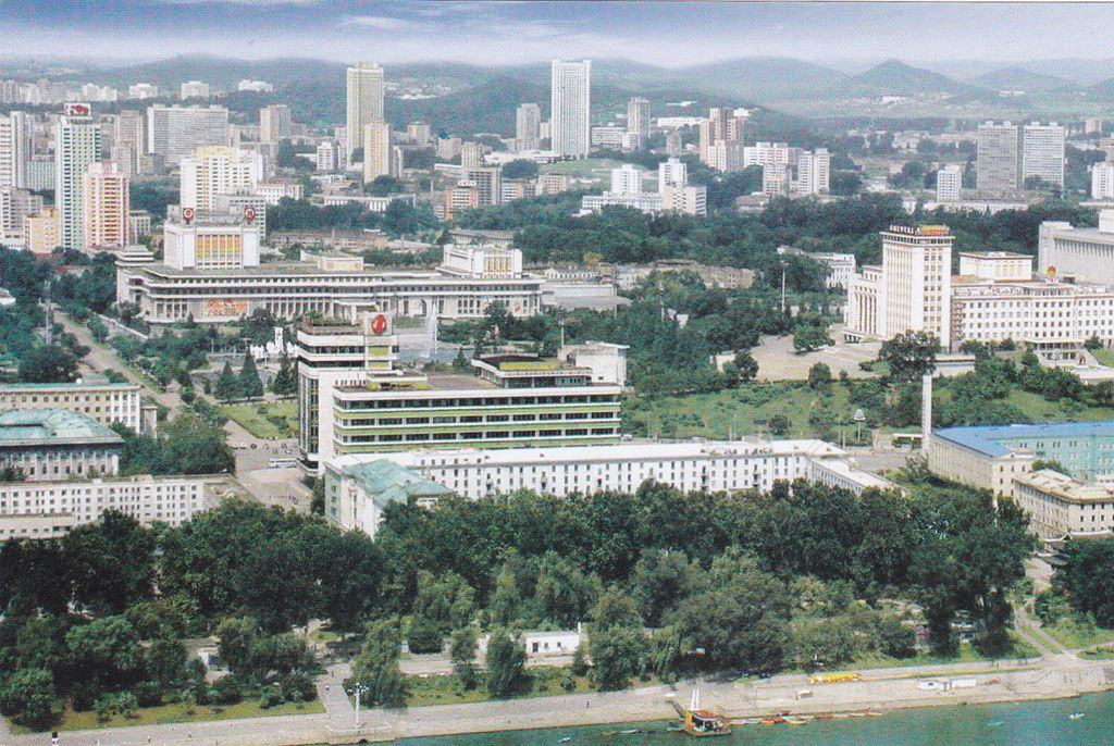 "L9350, Korea Post Cards of 2017, ""Pyongyang View"""