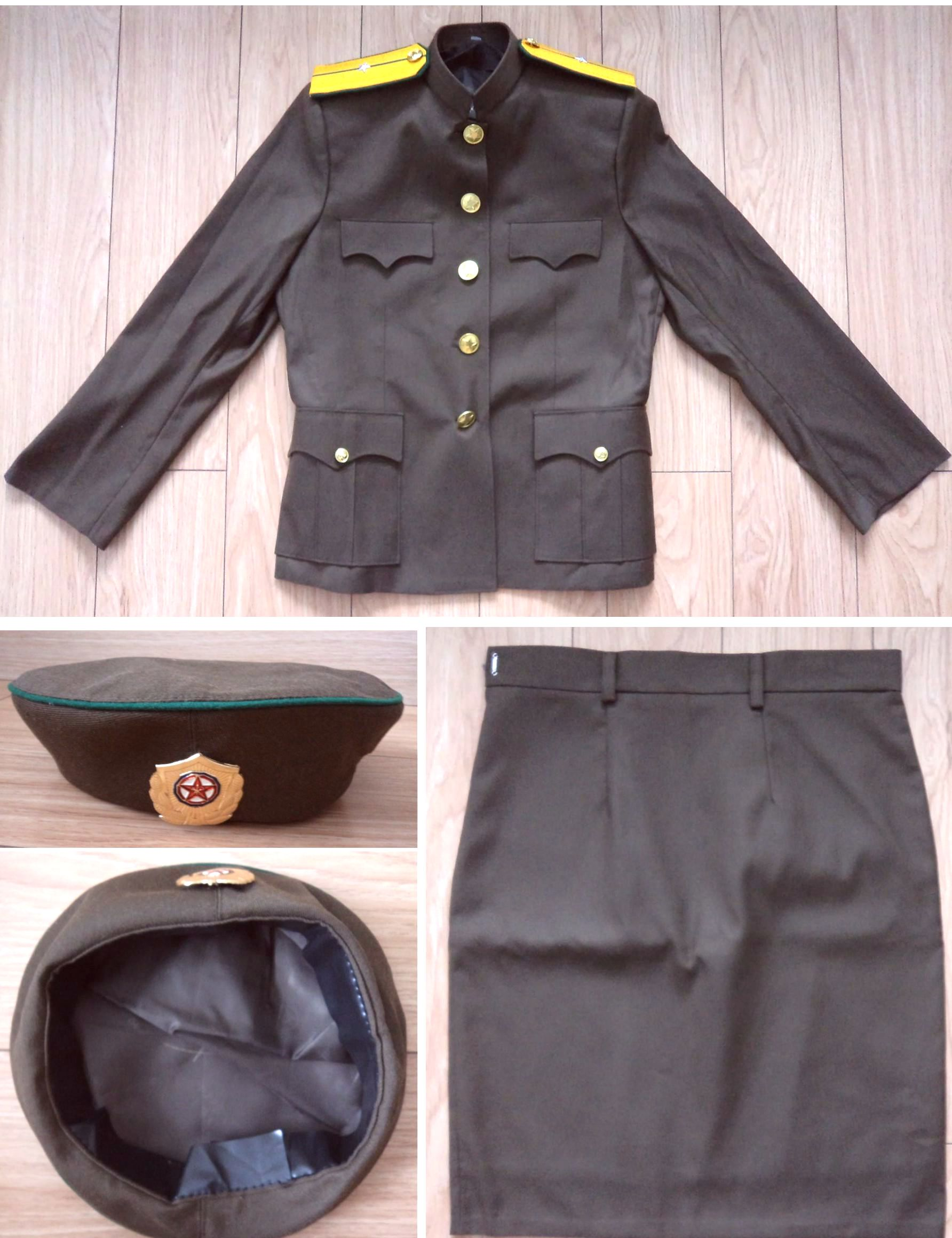L8554, Korea Army Female Uniform Suit, 2017 Spring/Autumn Style
