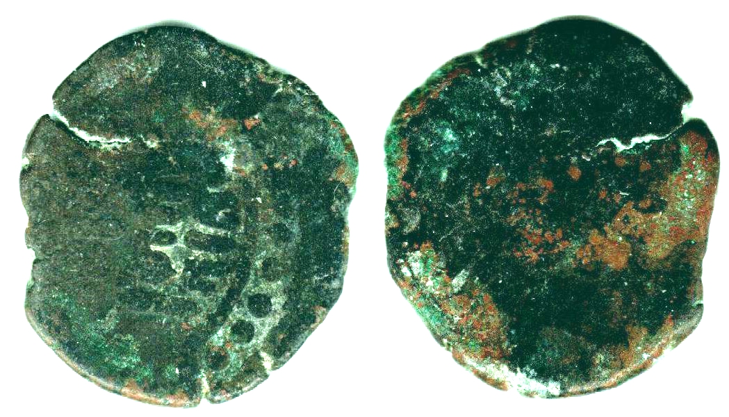 XJ3062, Arslan-Khan Sruck Copper Coin, Sinkiang, 10th Century 4.6 grams