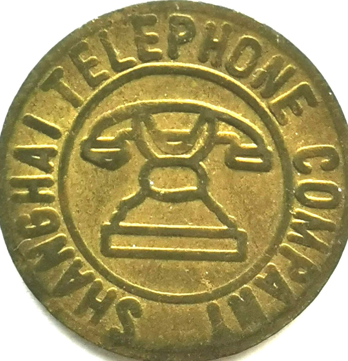 BT001, Shanghai Telephone Token, 1930's VF