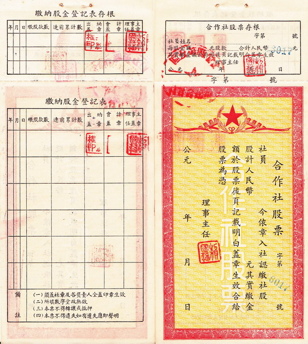 S2005, Traditional China Communist Rural Association's Stock, 1955