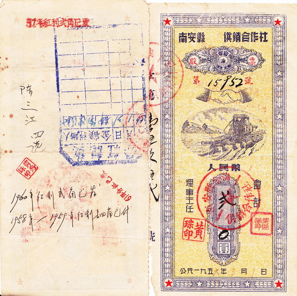 S2020, China Nan'an County Stock of Socialist Association, 1956