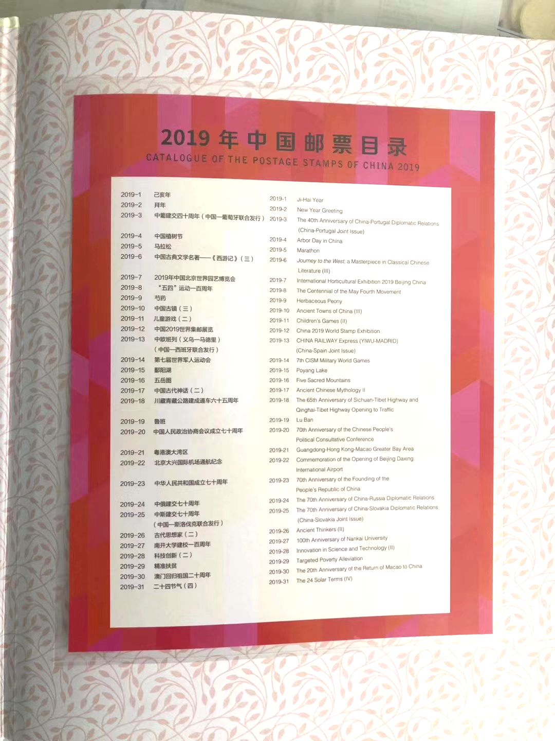 M2140, Complete 2019 China Stamp, SS Stamps and Booklet
